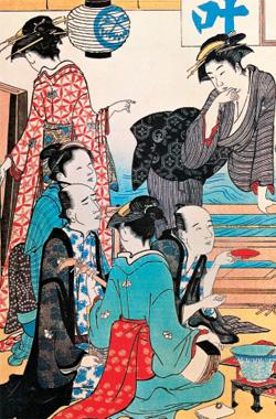 Красавицы «веселых домов». Киёнага Тории. XVIII век